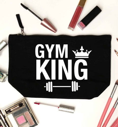 Gym king black makeup bag