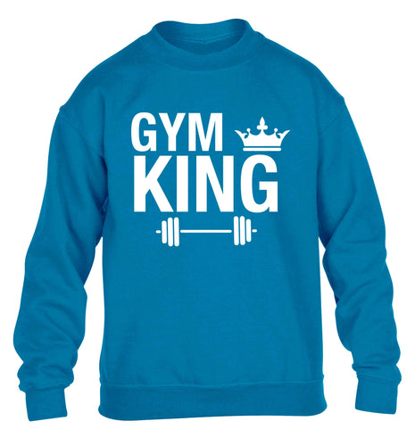 Gym king children's blue sweater 12-13 Years