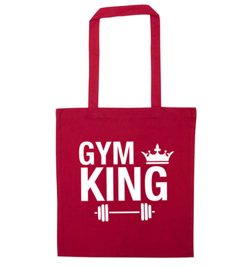 Gym king red tote bag