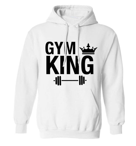 Gym king adults unisex white hoodie 2XL