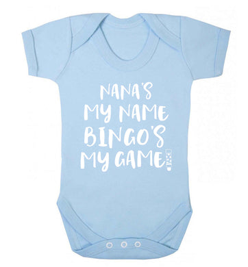 Nana's my name bingo's my game! Baby Vest pale blue 18-24 months