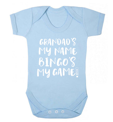 Grandad's my name bingo's my game! Baby Vest pale blue 18-24 months