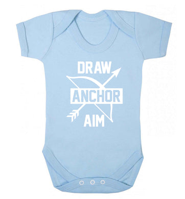 Draw anchor aim Baby Vest pale blue 18-24 months