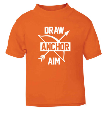 Draw anchor aim orange Baby Toddler Tshirt 2 Years