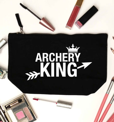 Archery king black makeup bag