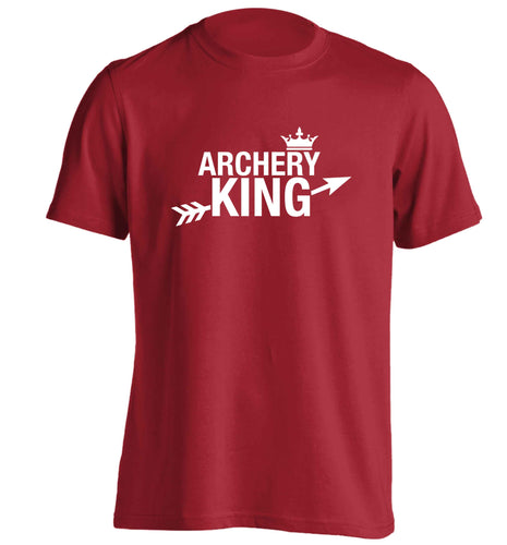 Archery king adults unisex red Tshirt 2XL