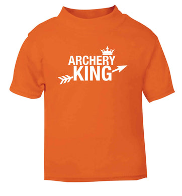Archery king orange Baby Toddler Tshirt 2 Years