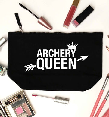 Archery queen black makeup bag