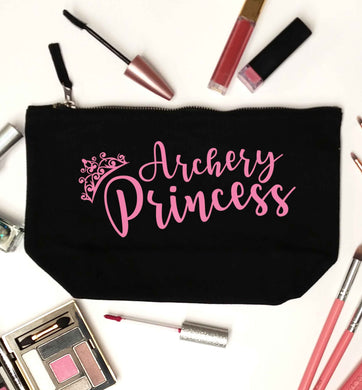 Archery princess black makeup bag