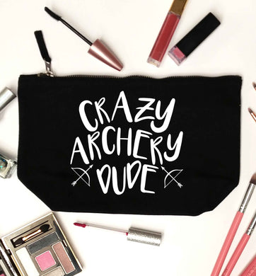 Crazy archery dude black makeup bag