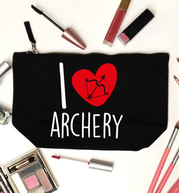 I love archery black makeup bag