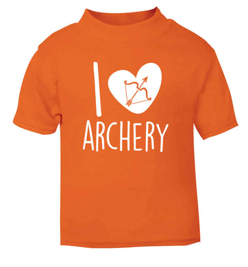 I love archery orange Baby Toddler Tshirt 2 Years