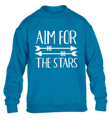 Aim for the stars children's blue sweater 12-13 Years