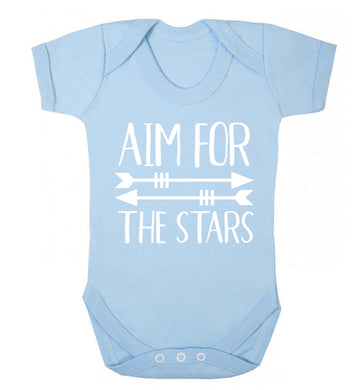 Aim for the stars Baby Vest pale blue 18-24 months