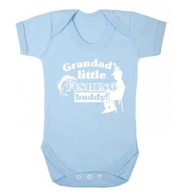 Grandad's little fishing buddy! Baby Vest pale blue 18-24 months