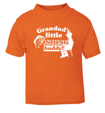Grandad's little fishing buddy! orange Baby Toddler Tshirt 2 Years