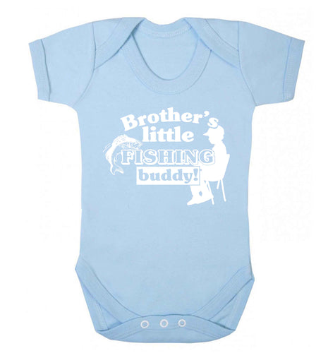 Brother's little fishing buddy Baby Vest pale blue 18-24 months