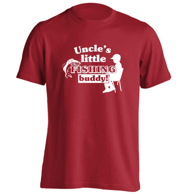 Uncle's little fishing buddy adults unisex red Tshirt 2XL