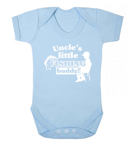 Uncle's little fishing buddy Baby Vest pale blue 18-24 months