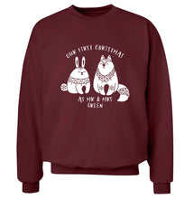 Our first Christmas as Mr & Mrs personalised Adult's unisex maroon Sweater 2XL