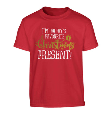 Daddy's favourite Christmas present Children's red Tshirt 12-13 Years