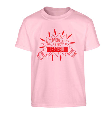 Daddy's little Christmas cracker Children's light pink Tshirt 12-13 Years