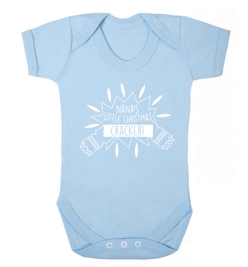 Nana's little Christmas cracker Baby Vest pale blue 18-24 months