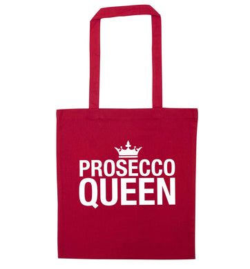 Prosecco queen red tote bag