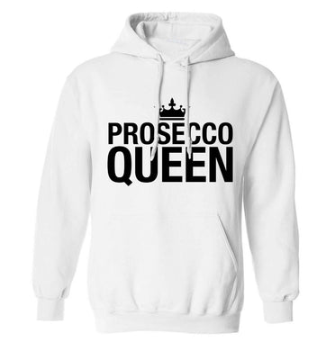 Prosecco queen adults unisex white hoodie 2XL