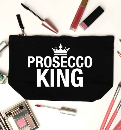 Prosecco king black makeup bag
