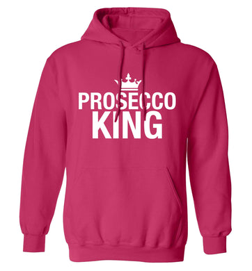 Prosecco king adults unisex pink hoodie 2XL