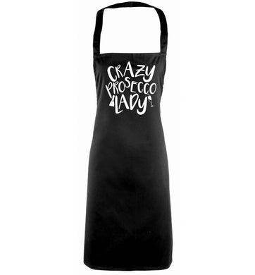 Crazy prosecco lady black apron