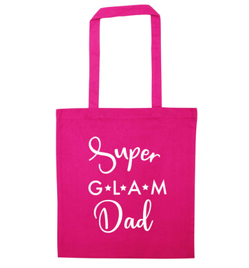Super glam Dad pink tote bag