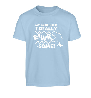 My brother is totally rawrsome Children's light blue Tshirt 12-13 Years