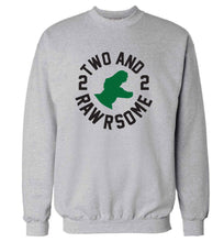 Two and rawrsome adult's unisex grey sweater 2XL