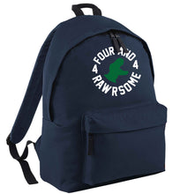 Four and rawrsome navy childrens backpack
