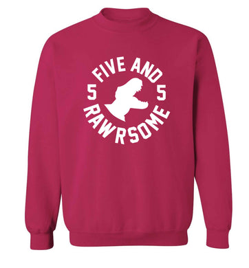 Five and rawrsome adult's unisex pink sweater 2XL