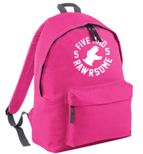 Five and rawrsome pink childrens backpack