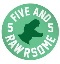 Five and rawrsome 24 @ 45mm matt circle stickers