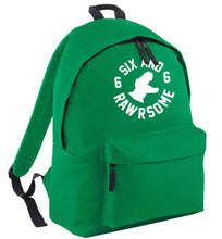 Six and rawrsome green adults backpack