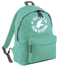Six and rawrsome mint adults backpack