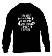 May your pancakes be flippin' and your toppings be trippin' children's black sweater 12-13 Years