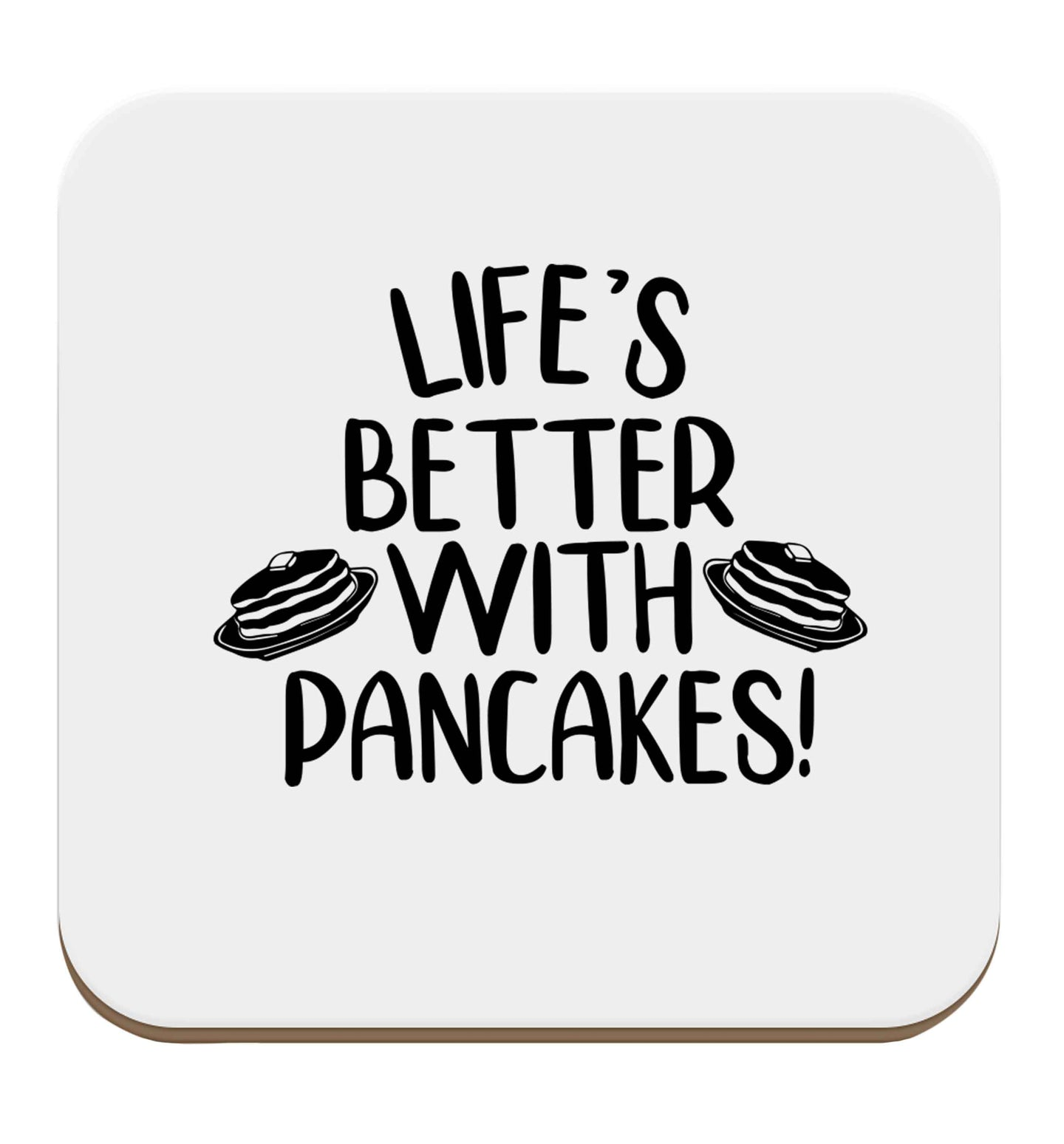 Life's better with pancakes set of four coasters