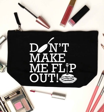 Don't make me flip out black makeup bag