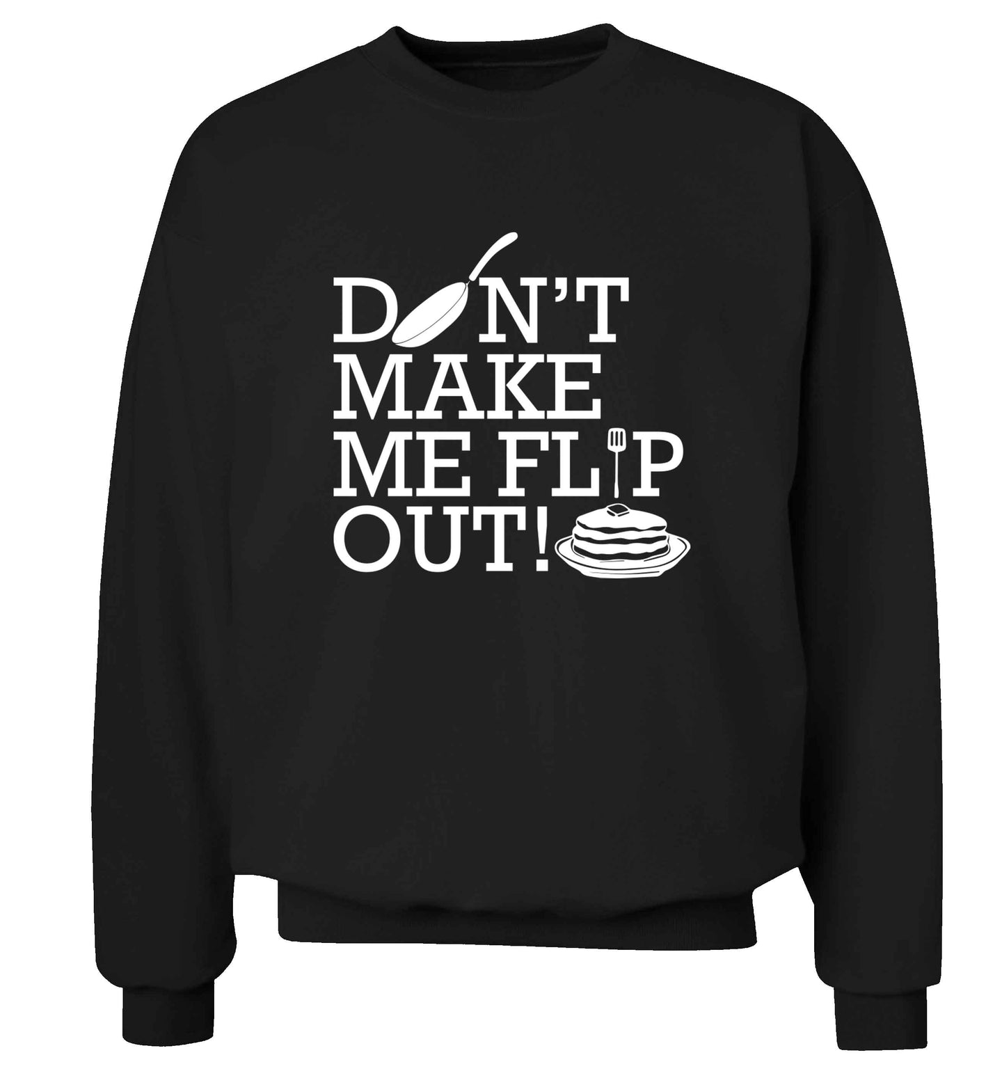 Don't make me flip out adult's unisex black sweater 2XL