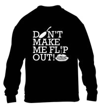 Don't make me flip out children's black sweater 12-13 Years