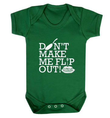 Don't make me flip out baby vest green 18-24 months