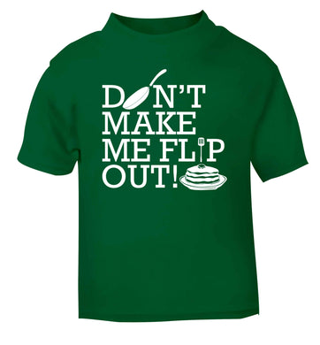 Don't make me flip out green baby toddler Tshirt 2 Years