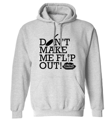 Don't make me flip out adults unisex grey hoodie 2XL