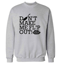 Don't make me flip out adult's unisex grey sweater 2XL